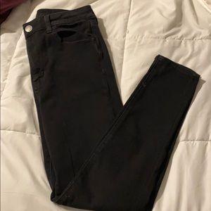 Size 10 American Eagle black skinny jeans